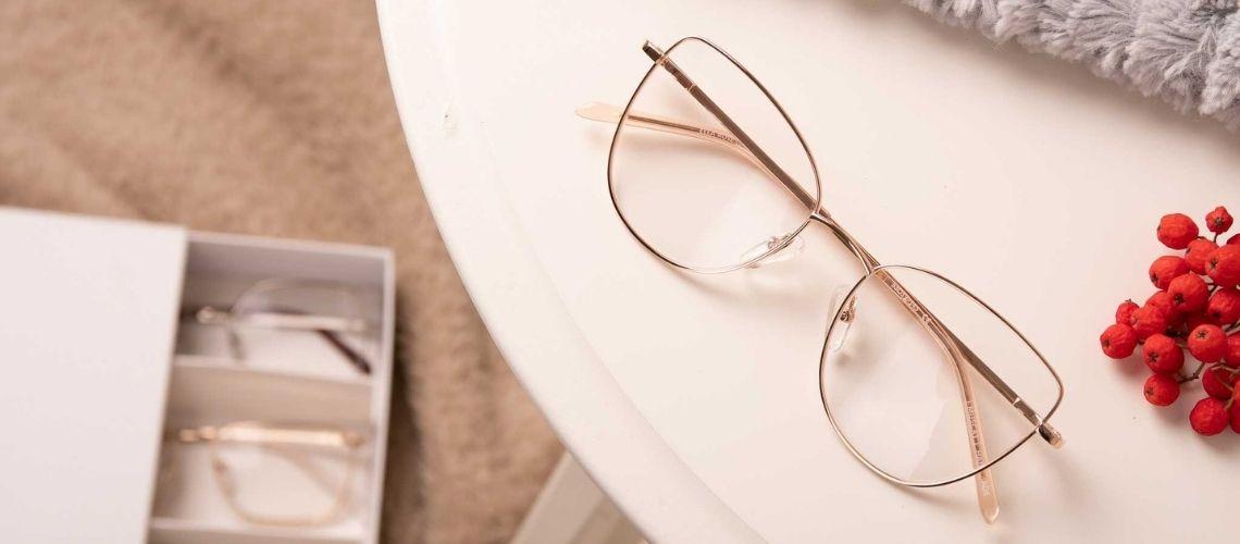 Domowa Przymierzalnia - okulary MUSCAT - oprawki Ella Gold