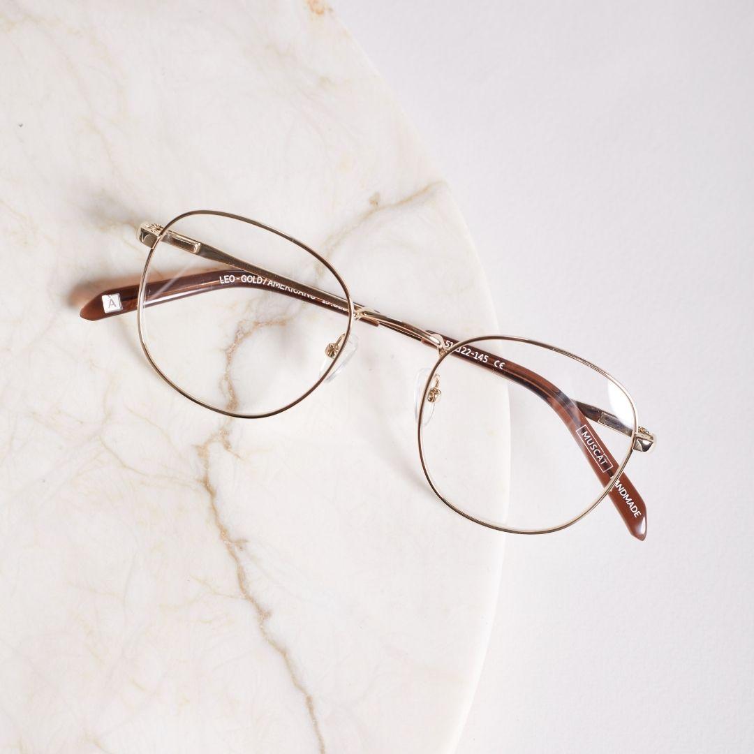 Domowa Przymierzalnia - okulary MUSCAT - oprawki Leo Matt Brown